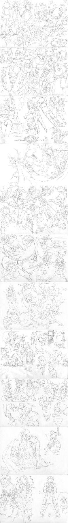日本官方人物(资料1-3部全) 绘画教程...@yoja~采集到游戏角色03(1871图)_花瓣游戏
