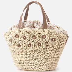 LEST ROSE crochet flower purse bag