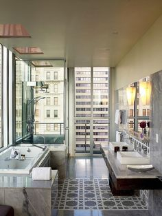 hiromitsu:    The Joule, Dallas—Penthouse Bathroom by Luxury Collection Hotels and Resorts on Flickr.