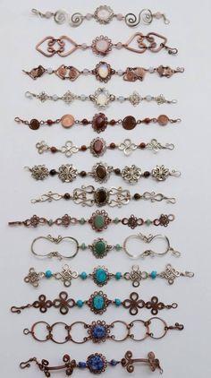 Wire Jewelry Making Tutorials Wire Earring Backs Bijoux Wire Wrap, Wire Wrapped Bracelet, Bijoux Diy, Wire Jewelry Designs, Jewelry Crafts, Jewelry Tools, Bracelet Designs, Diy Bracelets Metal, Copper Jewelry