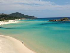 The beach of Tuerredda (Teulada, Cagliari - Sardinia, Italy) is considered one of the most beautiful beaches in Sardinia. Sardinia Holidays, Italy Holidays, Most Beautiful Beaches, Beautiful Places In The World, Pula, Italy Vacation, Italy Travel, Italy Honeymoon, Italy Tours