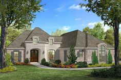 This gorgeous 3 bed 2 bath country French split plan is loaded with extras. The painted brick exterior with the arched top door and window give this home great curb appeal. Entering in the spacious do