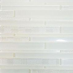 Art Studio Random Link Glass Collection - White