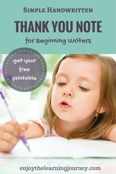 Looking for a simple option for a handwritten thank you note for kids? This method allows your beginning writer to practice gratitude but won't overwhelm them in the process.