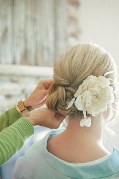Bridal flower Cream / Ivory Peony Hair Flower with by OliniFloral, $44.00 Handmade by OliniBridal.com in US
