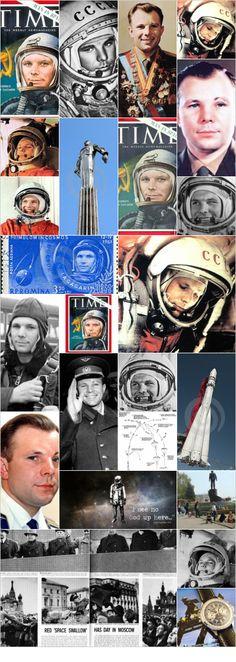 Гагарин, Юрий Алексеевич: Hoy hace 52 años (12 de abril de 1961) que Yuri Gagarin se convirtió en el primer hombre en viajar al espacio, a bordo de la nave Vostok.  La imagen es la portada que la revista Time le dedicó. #Russia #cosmonaut #Yuri_Gagarin