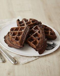 Cynthia Barcomi Rezept :: Schokoladenwaffeln mit Schokoladenstückchen