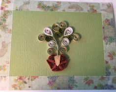 Items similar to Quilled thank you card, paper quilling, brown ...