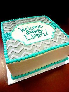 Welcome baby chevron cake #chervoncake #welcomebaby