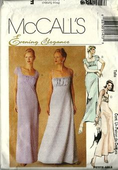 Classic 1990s Sewing Patterns McCalls Evening by TheIDconnection, $25.00