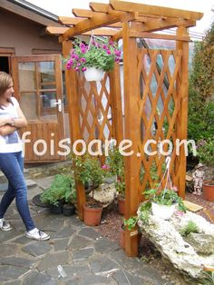 Modele pergole pentru flori Arch, Outdoor Structures, Garden, Outdoor Decor, Home Decor, Longbow, Garten, Decoration Home, Room Decor