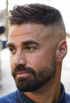 Short Beard, Short Hair Cuts, Cool Haircuts, Haircuts For Men, Barber Haircuts, Mens Hairstyles Fade, Men's Hairstyles, Mens Short Messy Hairstyles, Mens Hair Fade