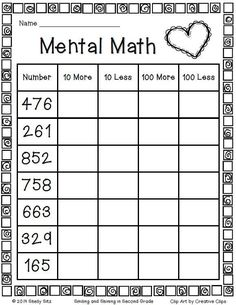 √ 30 Second Grade Math Worksheets . 16 Second Grade Math Worksheets. Mental Maths Worksheets, Math Activities, Mental Math Strategies, First Grade Math Worksheets, Number Worksheets, Alphabet Worksheets, Printable Multiplication Worksheets, Worksheets For Class 1, Money Worksheets
