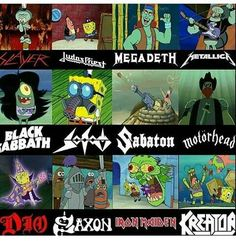 I don't see how Squidward is Metallica but. Spongebob is more metal than you Heavy Metal Rock, Heavy Metal Bands, Black Metal, Heavy Metal Fashion, Hard Rock, Music Metal, Metal Meme, Metal T Shirts, Gothic Metal