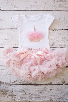 Pettiskirt Tutu Girls FIrst birthday Outfit by PoshPeanutKids