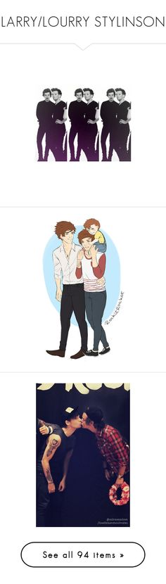 """► LARRY/LOURRY STYLINSON ◄"" by brdfrdzen ❤ liked on Polyvore featuring TalisLittleTag, kikitags, one direction, larry, harry, larry stylinson, louis, 1d, backgrounds and pictures"