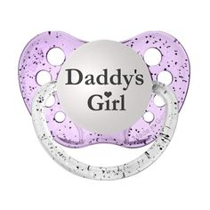 Daddys Girl Pacifier  www.SpecialBabyShowerGifts.com