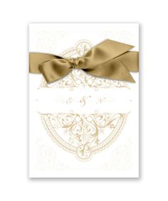 Royale Crest Invitation by David's Bridal: An invitation fit for a queen, this opulent, filigree wedding invitation delivers royal style!
