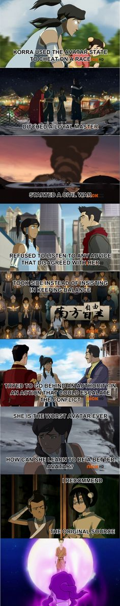 Well, that did wonders for Zuko and Aang.....