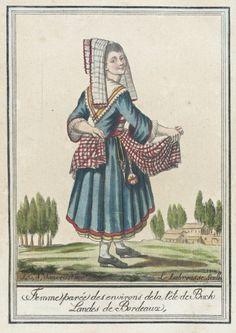 Costumes de Différent Pays, 'Femme Parée des Environs de la Tête de Buch Landes de Bordeaux' | LACMA Collections