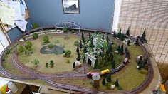 Complete HO SCALE TRAIN LAYOUT w/train & cars - 4' x 6 1/2' on wooden platform for USD695.00 #Toys #Hobbies #Model #Complete  Like the Complete HO SCALE TRAIN LAYOUT w/train & cars - 4' x 6 1/2' on wooden platform? Get it at USD695.00!