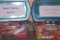 Road Trip Tips - individual snack totes