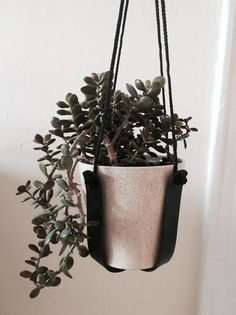 Hey, I found this really awesome Etsy listing at https://www.etsy.com/listing/249070681/leather-sling-plant-hanger