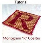 Beaded R Coaster PDF Beading Pattern