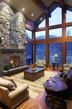 60 Awesome Log Cabin Homes Fireplace Design Ideas Home Fireplace, Living Room With Fireplace, Fireplace Design, Fireplaces, Cabin Homes, Log Homes, Placard Design, Family Room Design, Great Rooms