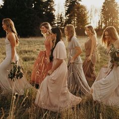 Rustic Vibes💫🍂 in Show Me The Ring + Rustic Mauve + Dusty Blush + Dove Grey + Dune Chiffon How Many Bridesmaids, Brides And Bridesmaids, Bridesmaid Dresses, Wedding Dresses, Wedding Bells, Wedding Bride, Rustic Wedding, Earth Tone Wedding, Groom Shoes