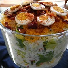 """Twenty Four Hour Layered Salad 
