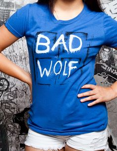 J!NX : Bad Wolf Women's Tee - Clothing Inspired by Video Games & Geek Culture