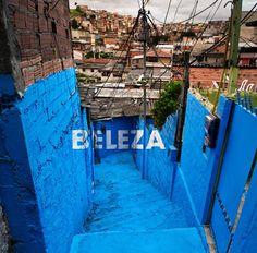 Boa Mistura makes a poor suburb of Sao Paulo a little more colorful. Beleza = Beauty.