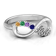 Mom's Infinite Love Ring with 2-10 Stones #jewlr