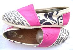 Must Have....just one more reason i should have a pair of Toms!! <3 Has 1 Corinthians 13 written on it!!