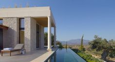 Amanzo'e, Greece: Architect Edward Tuttle has constructed a modern-day acropolis for Amanzo'e, a resort near Porto Heli, Greece, on the Peloponnese peninsula.
