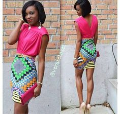 Ankara style she owned the outfit Africa Fashion, African Inspired Fashion, African Print Fashion, African Prints, African Dresses For Women, African Attire, African Wear, African Women, African Style