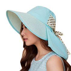 77a9041677b UV Sun hats women summer hats Sun (Beige) at Amazon Women s Clothing store