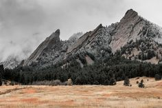 Flatirons with the first snow of the year - Boulder, Colorado