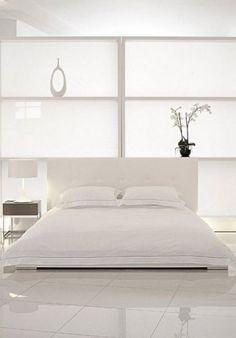 Blanco romántico para las habitaciones....