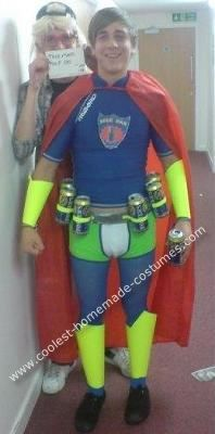 Coolest Homemade Beer Man Costume  sc 1 st  Pinterest & Last-Minute Made-Up Superhero Halloween Costume | Pinterest ...