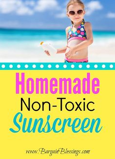 Homemade SPF 40 Non-Toxic Sunscreen! I cannot wait to whip some of this up! #healthyliving #essentialoils
