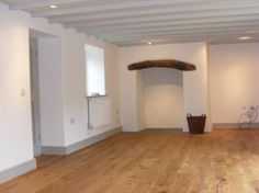 3 bedroom cottage for sale in Woodbine Cottage, Landimore, Gower, - Rightmove. Coloured Skirting Boards, Grey Woodwork, Carpet Staircase, Cozy Basement, Open Plan Kitchen Living Room, Black And White Tiles, Architrave, Reno, Bathroom Colors