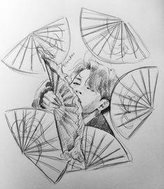 Jimin Fanart, Kpop Fanart, Kpop Drawings, Art Drawings Sketches, Bts Art, Bts Fan Art, Korean Art, Drawing Challenge, Drawing People