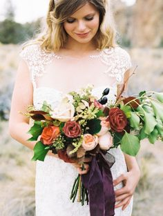 Wedding Bouquet | Photography: Perry Vaile  | http://www.stylemepretty.com/2013/11/19/oregon-wedding-inspiration-from-perry-vaile-photography/
