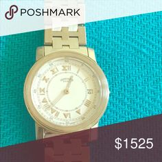 Beautiful Hermes Watch (Authenticated) I love this watch, but I bought from my ex.  Stunning & classic Hermes watch! New battery & works like a charm. Show it off because there is simply nothing that compares to Hermes Parisian Chic! Hermes Accessories Watches