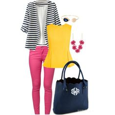 Marleylilly.com Scalloped Tote by marleylilly on Polyvore featuring Diane Von Furstenberg, ONLY and Cara