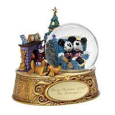 Disney Mickey & Minnie Personalized Christmas Snowglobe