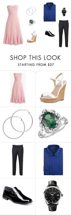 """""""PPP Dinner With Friends"""" by mommyzilla ❤ liked on Polyvore featuring J.Crew, Charles by Charles David, Melissa Odabash, Blue Nile, Paul Costelloe, Double TWO, Stacy Adams and Carl F. Bucherer"""