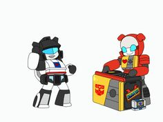 Jazz and Blaster. This is so adorable! Jazz is so chubby!!! XD